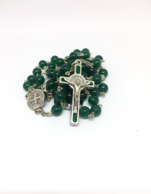 Green Agate Superior Rosary